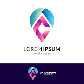 Letter c pin logo