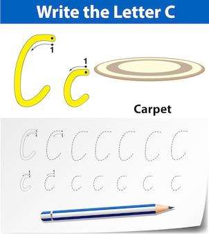 Letter c tracing alphabet worksheets