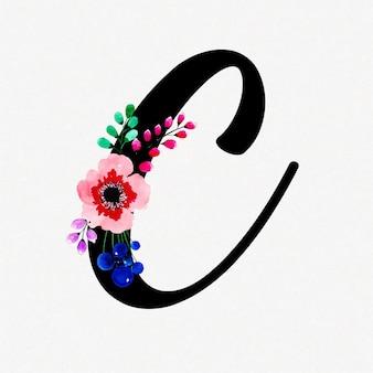 Письмо c акварельный цветочный фон