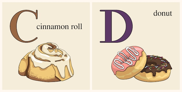 Letter c with cinnamon roll