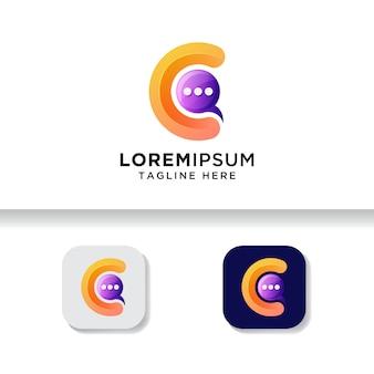 Letter chat logo apps