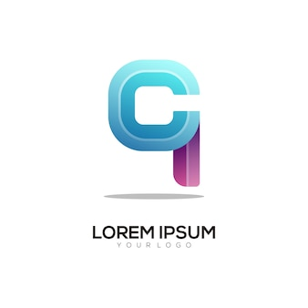 Letter a colorful logo design template modern