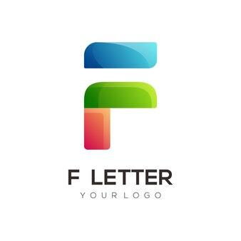 モダンな文字カラフルなロゴデザインテンプレート