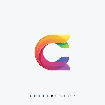 文字カラフルなロゴのベクトルテンプレート