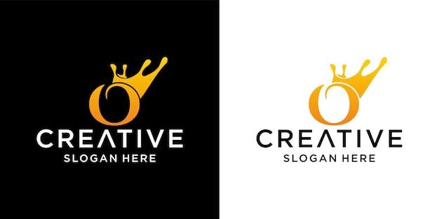 Letter a crown logo design