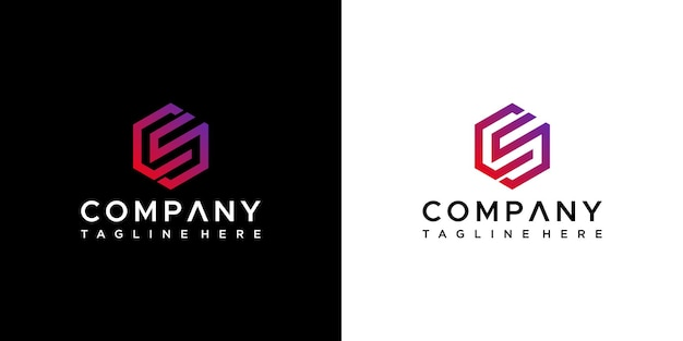 Письмо cs дизайн логотипа