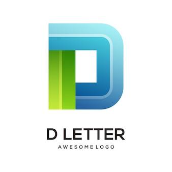 Letter d colorful logo design template modern