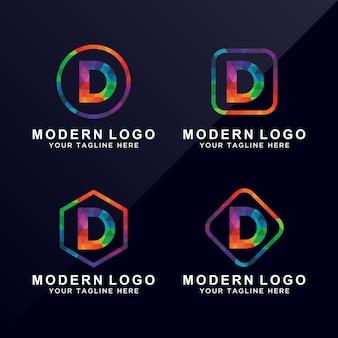 Letter D colorful logo