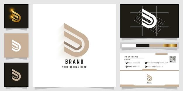 Letter d or dd monogram logo with business card design