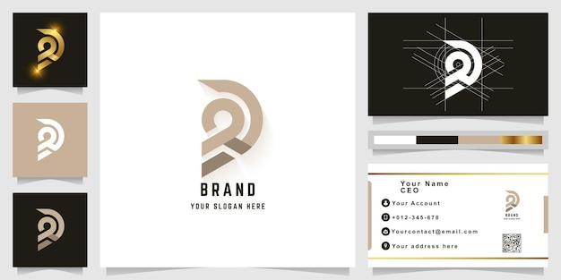 Letter d or gd monogram logo with business card design