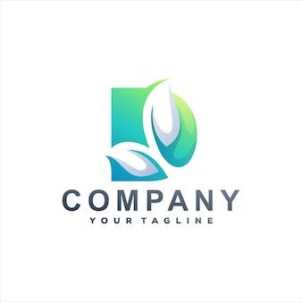 Буква d градиентный дизайн логотипа