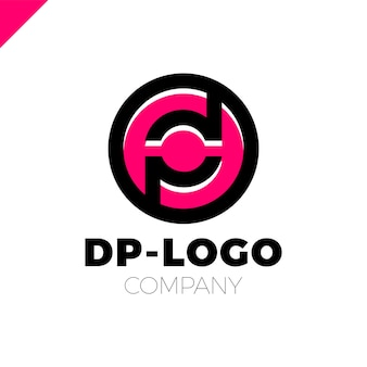 Letter d and letter p logotype