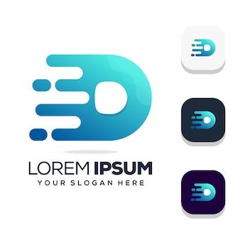 Буква d дизайн логотипа