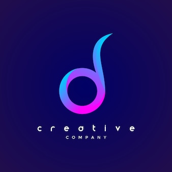 Шаблон дизайна значка логотипа d d