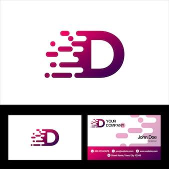 Буква d шаблон логотипа, дизайн векторной иллюстрации шаблона визитной карточки