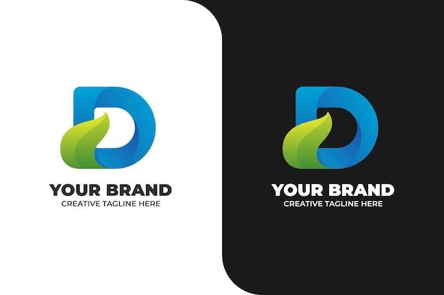 Letter d nature gradient logo