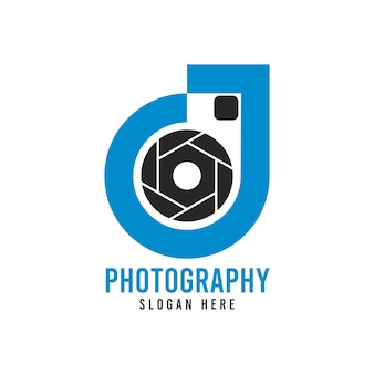 Letter d photography logo