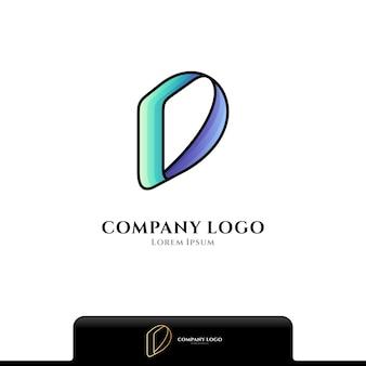 Буква d простой логотип, изолированные на белом фоне
