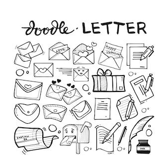 Letter doodle hand drawn set