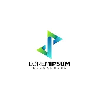 Letter dp logo design