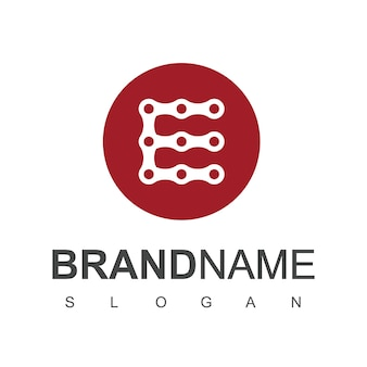 Letter e chain logo design vector