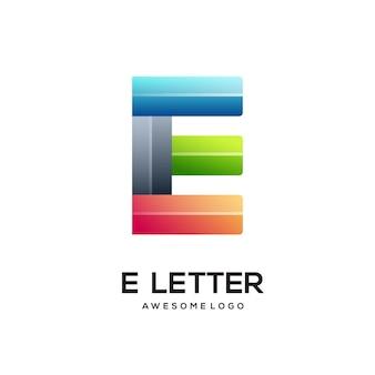 Letter e colorful logo design template modern