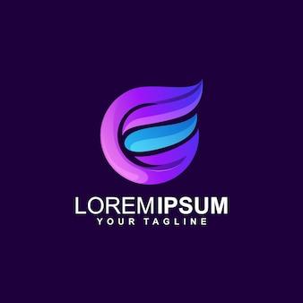 Letter e logo design abstract