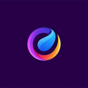 Буква e дизайн логотипа векторная иллюстрация