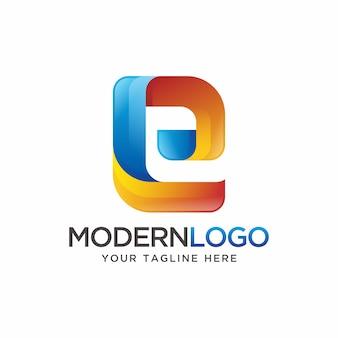 Letter e logo design.