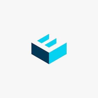 Буква e логотип градиент