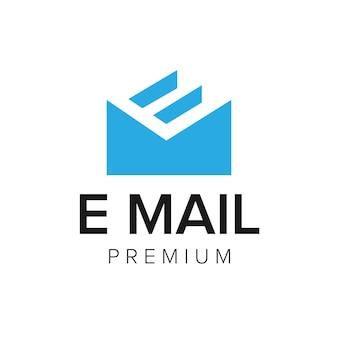 Letter e mail logo icon vector template