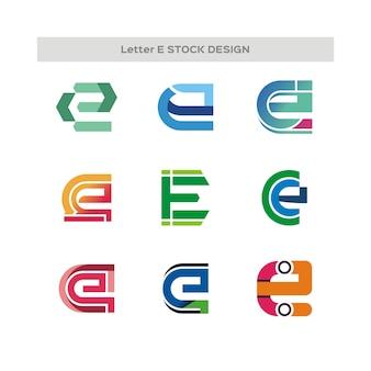 Letter e stock design logo