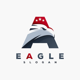 Letter a eagle logo ready to use