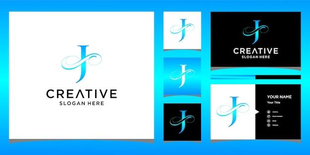 レター名刺デザインのエレガントなロゴデザイン
