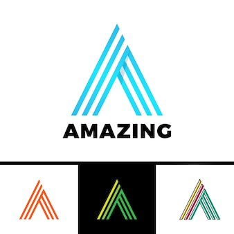 Letter a enclosed in a triangle