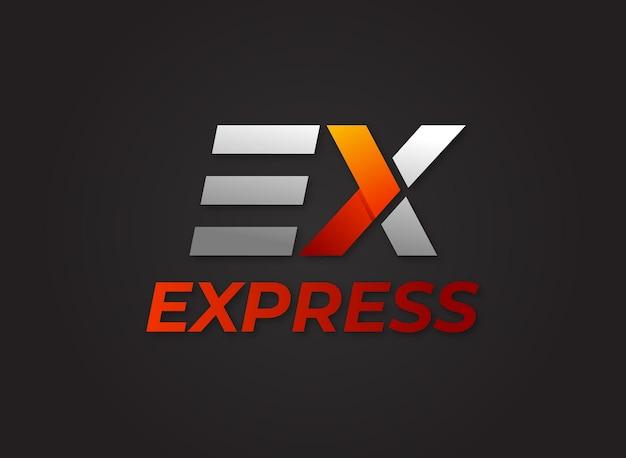 レターexエクスプレスロゴベクトルダウンロード