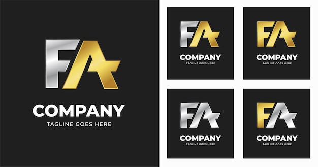 편지 fa 로고 디자인 서식 파일