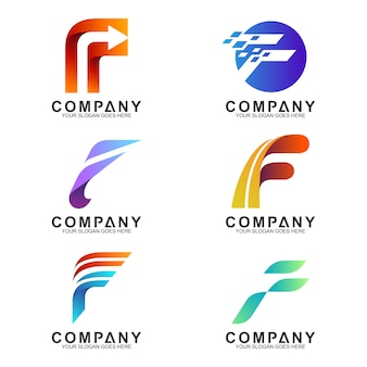 Letter f logo collection