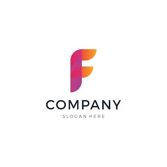Буква f дизайн логотипа