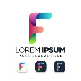 文字fのロゴデザイン