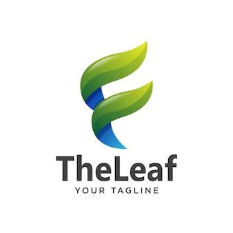 Буква f логотип градиент