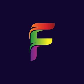 文字fロゴ