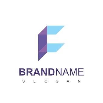 文字fサーバーのロゴデザインベクトル