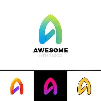 A letter faster logo template