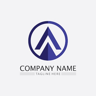 A letter and font  logo template vector icon illustration design