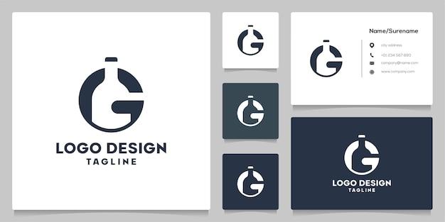 Letter g beer negative space logo design