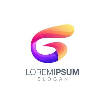 Letter g color logo template