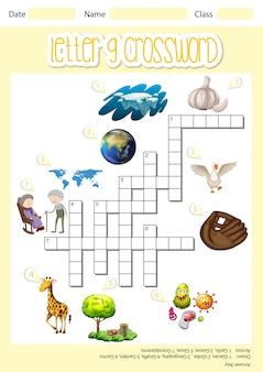 Letter g crossword concept