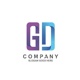 Letter g and d logo