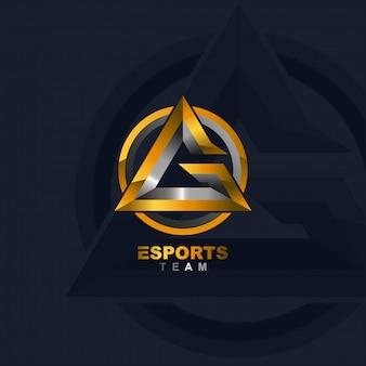 Letter g e-sports logo